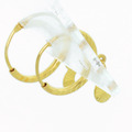Dazzling Ladies 21K Yellow Gold Dangling Moon Hoop Earring Set