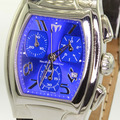 TechnoMarine Men's Stainless Steel Swiss-Made Quartz Chronograph Watch Blue Face