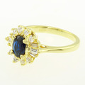 Glamorous Ladies 14K Yellow Sapphire Diamond Vintage Cocktail Estate Ring