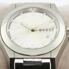 Gucci 115 Men's Pantheon Stainless Steel Silver Face Date Automatic Watch