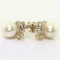 Dazzling Ladies 14K White Gold Three Princess Diamond Pendant Necklace