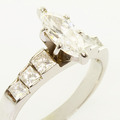 Spectacular Ladies 14K White Gold Marquise Diamond Engagement Ring