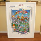 Melanie Taylor Kent Olympic Centoonial Art Print With COA