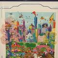 Melanie Taylor Kent Looney Tunes Take Manhattan Serigraph Art Original Signed