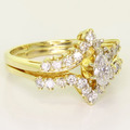 Stunning Ladies Vintage 14K Yellow Gold Marquise Diamond Engagement Ring