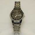 Authentic Ladies' Citizen Eco-Drive™ Stainless Steel Watch with Black Dial