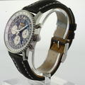 Authentic Breitling Navitimer Chronometre Men's Black Face Leather Band Watch