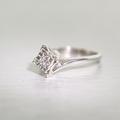 Beautiful Antique Edwardian 14k White Gold Illusion Diamond Solitaire Ring