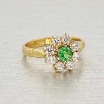 Estate 14k Yellow Gold Cubic Zirconia Ring Jewelry