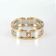 New  BARAKA 18K White & Rose Gold Ring With Diamond