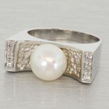 European Design 18K Gold Pearl Ring by O.P.G Gioielli