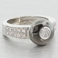 Stunning Solid 18K White Gold Diamond Ring by O.P.G Gioielli