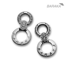 European  Designer BARAKA 18K Gold Earrings with Diamonds