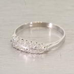 Stunning Edwardian Diamond Platinum Ring
