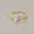 Wonderful Two Toned 14K Gold Diamond Wedding Set