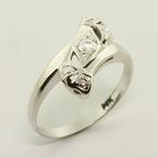 Incredible Diamond 14K White Gold Vintage Fashion Ring