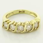 Stunning Solid 14K Yellow Gold 0.75ctw Round Diamond Ring