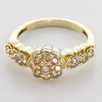 Gorgeous Diamond 14K Yellow Gold Vintage Fashion Ring
