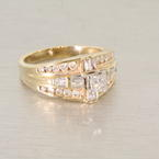 Lovely Vintage Diamond Engagement Ring 14K Yellow Gold