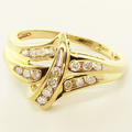 Estate Vintage Ladies 10K Yellow Gold Diamond Ring