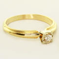 Vintage Estate 14K Yellow Gold Round Diamond Solitaire Engagement Ring