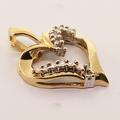 Beautiful Diamond Yellow Gold Heart Pendant