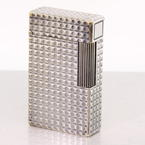Authentic S.T. Dupont Vintage Silver Finish Lighter