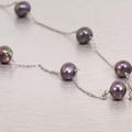 """Marvelous Freshwater Pearl Chain 14K White Gold 16"""" Necklace"""