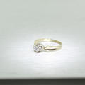Vintage 14K Yellow Gold Ladies Solitaire Engagement Ring