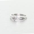 Dazzling Vintage Ladies 10K White Gold Diamond Cluster Engagement Ring
