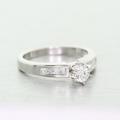 Spectacular Ladies Platinum PT900 Round Solitaire Diamond Engagement Ring