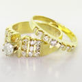 Spectacular Ladies Vintage 14K Yellow Gold Diamond Engagement Wedding Band Set