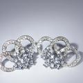 Breathtaking Ladies 14K White Gold Diamond Synthetic Aquamarine Earrings