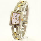 Charming Ladies Stainless Steel LEI Quartz Two Tone White Face Watch