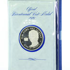 Carl XVI Gustaf Silver Proof Medal, US Bicenntenial Franklin Mint Coin