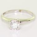Dazzling Ladies Vintage 14K White Gold Round Diamond Solitaire Engagement Ring