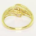 Gorgeous Ladies 10K Yellow Gold Vintage Estate Diamond Anniversary Ring