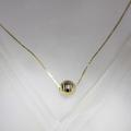 Dazzling Ladies 14K Yellow Gold Diamond Cut Ball Pendant Necklace