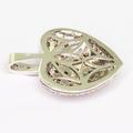 Beaituful Ladies 14K White Gold Diamond Heart Shaped Pendant Jewelry