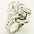 Stunning Ladies 14K White Gold Diamond Ring Earrings Necklace Jewelry Set