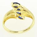 Stunning Ladies 10K Yellow Gold Sapphire Diamond Vintage Estate Ring