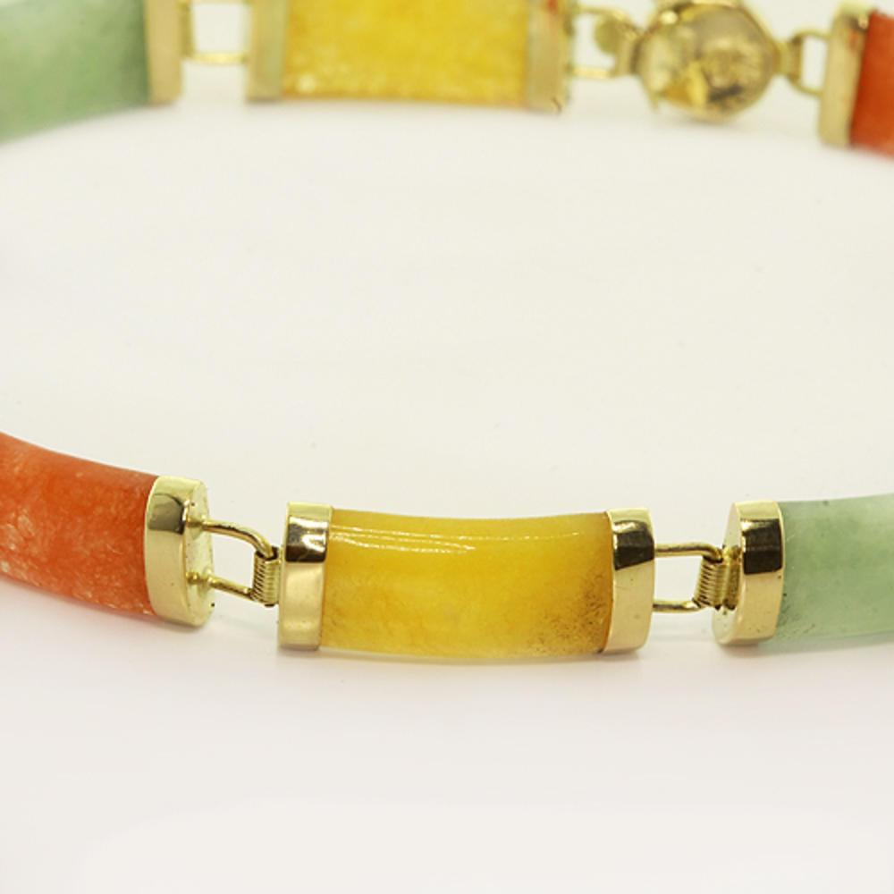 Multi Colored Jade Bracelet 01 02