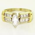 Dazzling Ladies Vintage 18K White Gold Marquise Diamond Engagement Ring