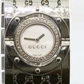 Gucci Bracelet Watch With Diamonds And Pearl Dial
