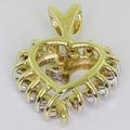 Dazzling Ladies 10K Yellow Gold Round Diamond Heart Pendant