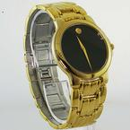 Authentic Movado Men's Stainless Steel Gold Toned Museum Watch #88-E4-9885