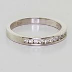 Beautiful Ladies 14K White Gold Round Diamond Wedding Anniversary Band Ring