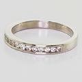 Beautiful Ladies 14K White Gold Round Diamond Wedding Anniversary Band Ring