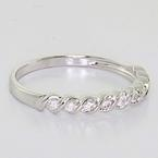 Beautiful Ladies 14K White Gold Round Diamond Half Eternity Wedding Band Ring