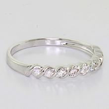 Beautiful Ladies 14K White Gold Round Diamond Half Eternity Wedding Band Ring